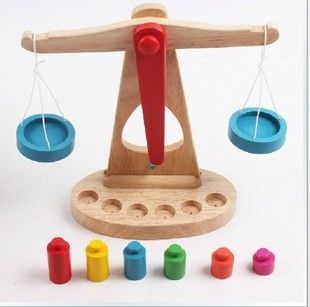 Træ-Balance Skala Montessori uddannelse træ-legetøj Libra Pendul Tidlig Læring Vægt Barn Børn Intelligens Legetøj