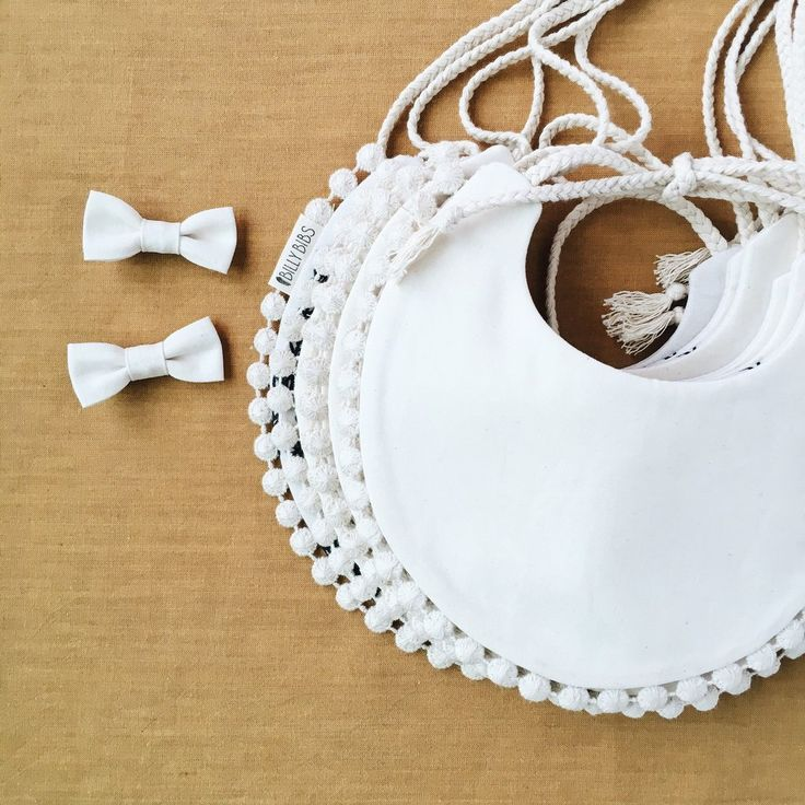 Baby girl drool bib. Special occasions. White baby bib