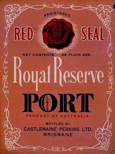 Royal Reserve Port label Qld c 1940