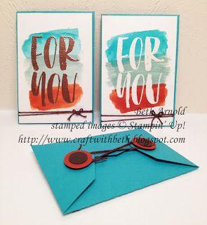 Craft with Beth: August 2016 Bold Botanicals Paper Pumpkin Kit Alternative Project Gift Card Holder Emboss Resist