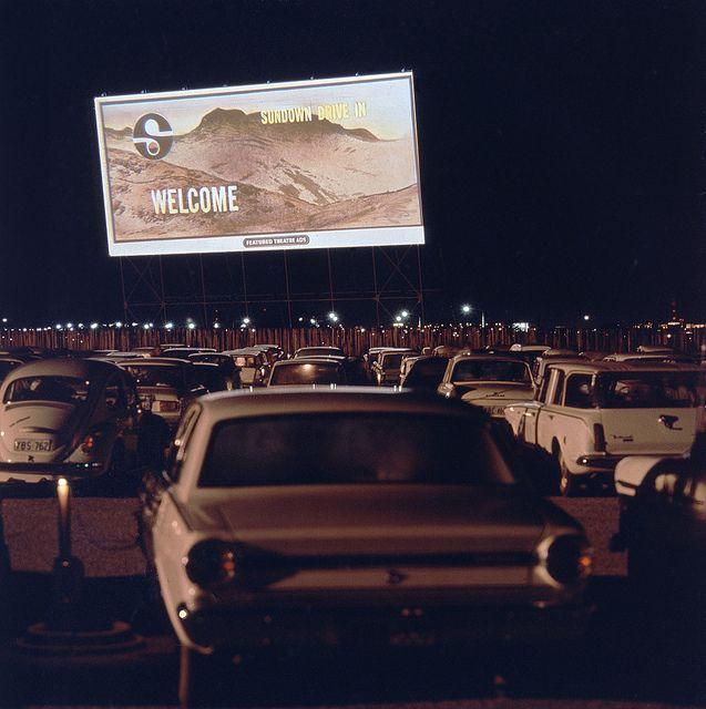 The Sundown Drive-in Cinema, Canberra,1970