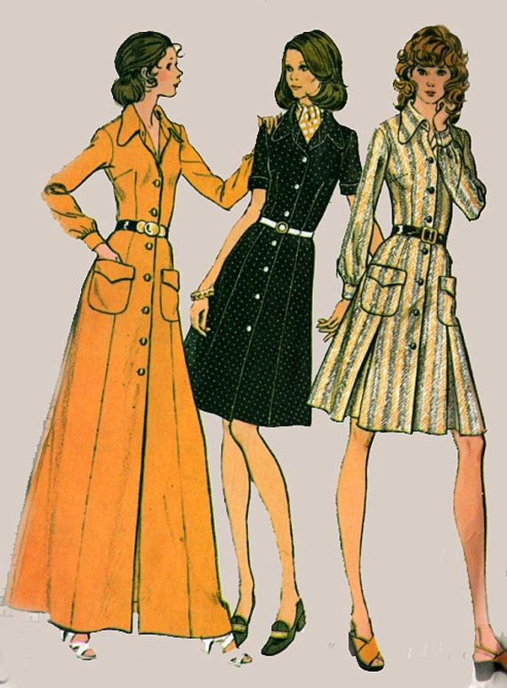 Vintage 70s Sewing Pattern McCalls 3480 RETRO Dress by sandritocat, $11.00