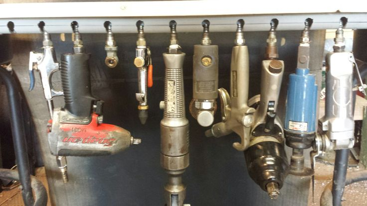 Air Tool Holder Made At Loose Screw Garage From 3 4 Quot Pvc