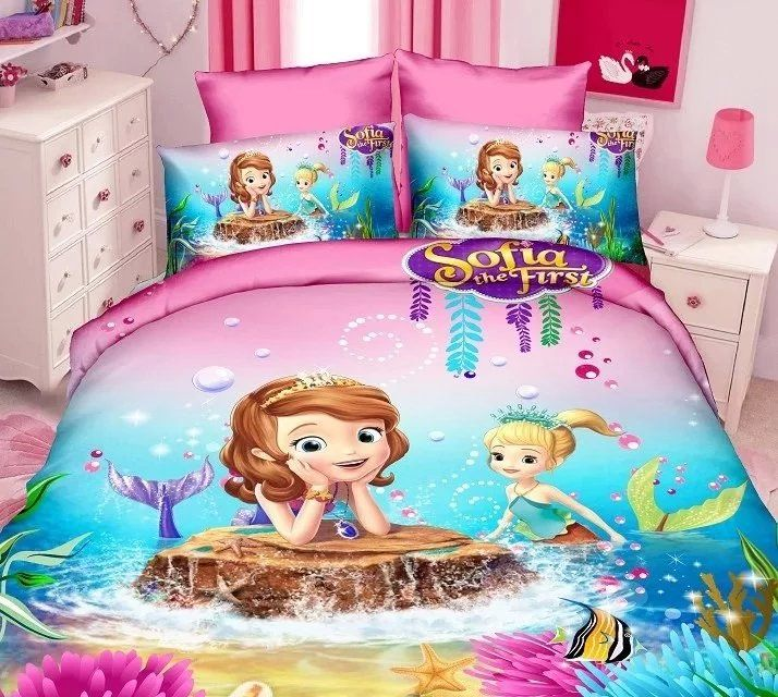 Sofia The First Mermaid Cartoon Bedding Sets     Tag a friend who would love this!     FREE Shipping Worldwide     Buy one here---> https://www.cancoot.com/sofia-the-first-mermaid-cartoon-bedding-sets-girls-bedroom-decor-single-twin-size-bed-sheets-quilt-duvet-covers-3pcs-no-filler/