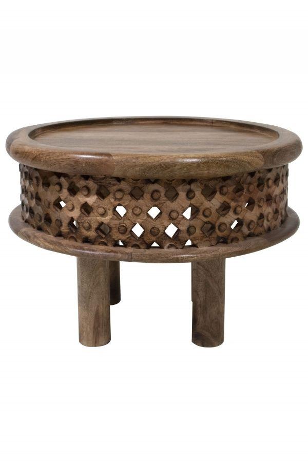 Marokkanischer Massivholz Tisch Couchtisch Yara 60cm Orientalische Tische Orientalische Holztische Vintage Tisch Wohnzimmertische Couchtisch