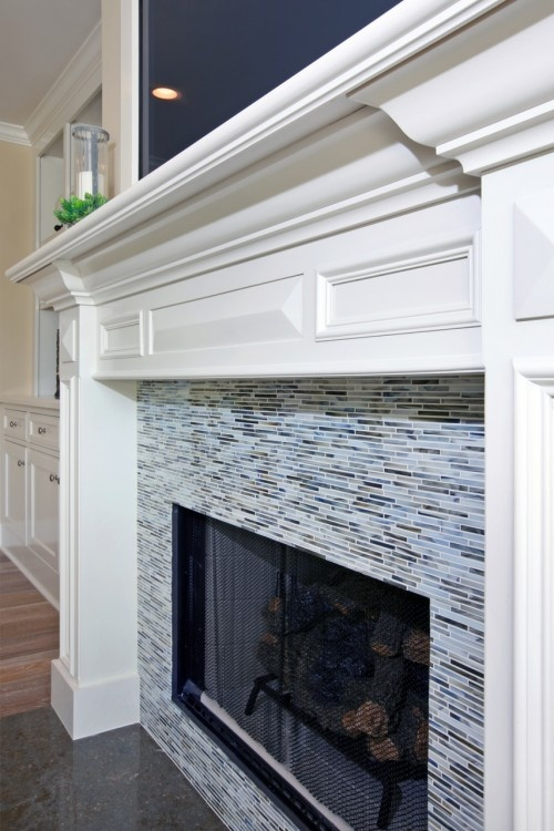 fireplace tile love the crisp look
