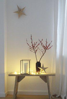 Ganz langsam ... -Foto von Mitglied waterloo #soloebich #interior #star #candle #candleholder #vase #branches #twigs #sidetable #fairylights #decor #einrichtung #inneneinrichtung #stern #kerze #kerzenhalter #kerzenständer #lichterkette #beistelltiisch #hocker #zweige #deko