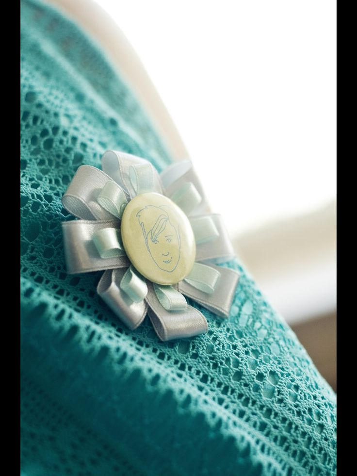 Menyasszony tanu kitűző (handmade by Szigeti Zsófi)
