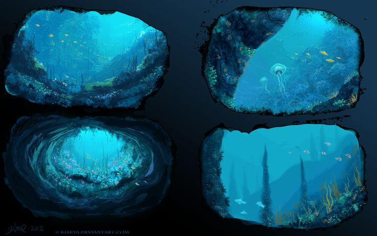 Environment 1, underwater practice by Kiarya ★ || *Please support the artists and studios featured here by buying this and other artworks in their official online stores • Find us on www.facebook.com/CharacterDesignReferences | www.pinterest.com/characterdesigh | www.characterdesignreferences.tumblr.com |  www.youtube.com/user/CharacterDesignTV and learn more about #concept #art #animation #anime #comics || ★