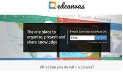 """Το Εdcanvas είναι μια δωρεάν υπηρεσία, η οποία σας δίνει τη δυνατότητα να δημιουργήσετε έναν """"καμβά"""" αποτελούμενο από στοιχεία (κείμενο -εικόνα- βίντεο) προκειμένου να παρουσιάσετε μια θεματική.  Δείτε πώς μπορεί να χρησιμοποιηθεί στην εκπαιδευτική διαδικασία στο http://neestexnologies.weebly.com/"""