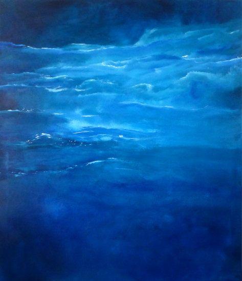 """""""Blue Day"""" by artist Carol Hazel - Buy Western Australian Art Online from Out of the Box Biz"""