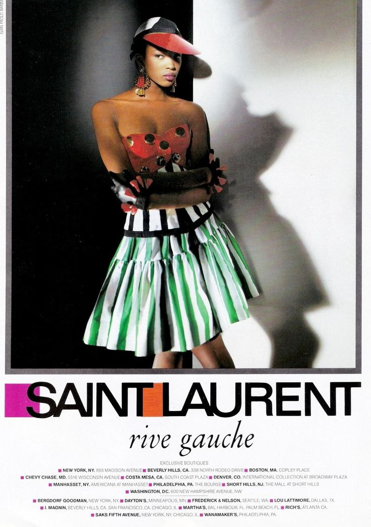 NAOMI CAMPBELL FOR YVES SAINT LAURENT RIVE GAUCHE ADVERTISEMENT ...