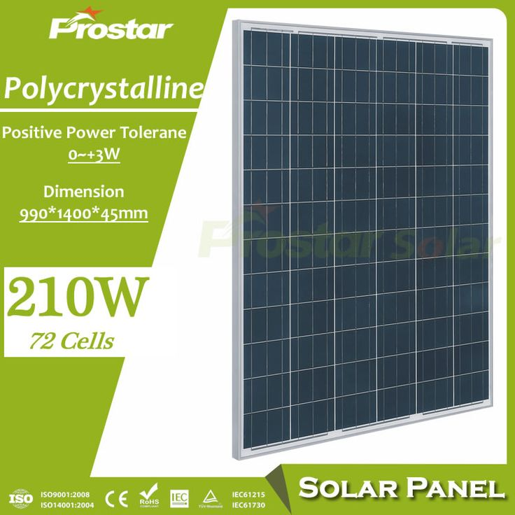 Prostar photovoltaic 210w pv solar panel price with polycrystalline solar cells