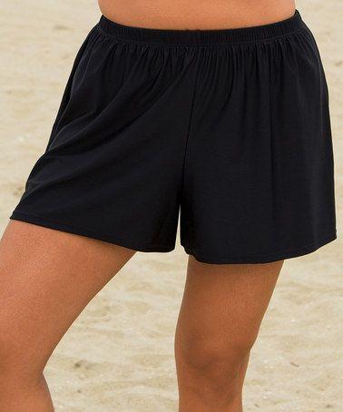 Another great find on #zulily! Black Swim Shorts - Women & Plus by Beach Belle #zulilyfinds