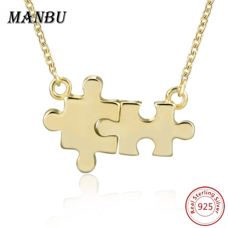 925 Sterling Silver Puzzle Jewelry Accessories Necklaces For Women 2017 Personalized Custom Necklaces & Pendants Choker Collar #Affiliate