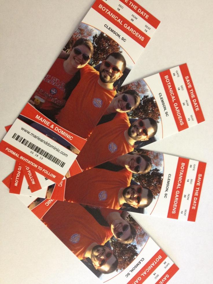 Clemson Ticket Save the Dates