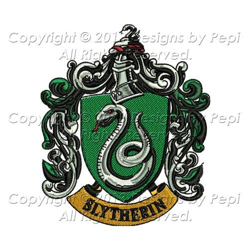 Harry potter slytherin house emblem design for embroidery
