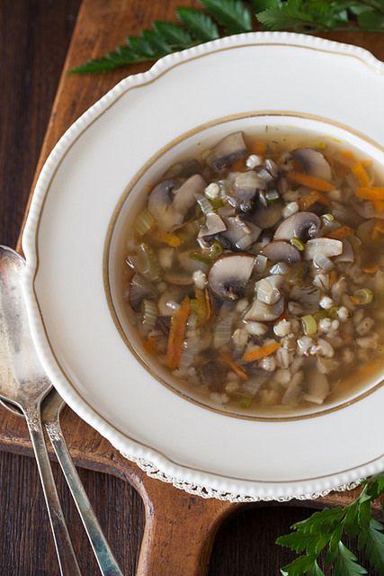 Mushroom Barley Soup 2 by Yelena Strokin @Cooking Melangery