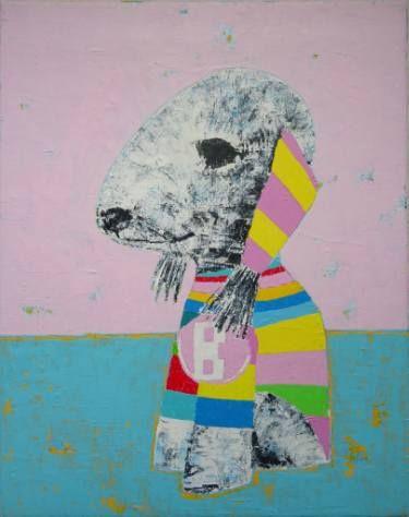 "Saatchi Art Artist Andy Shaw; Painting, ""Bosch the Bedlington Terrier Dog"" #art"