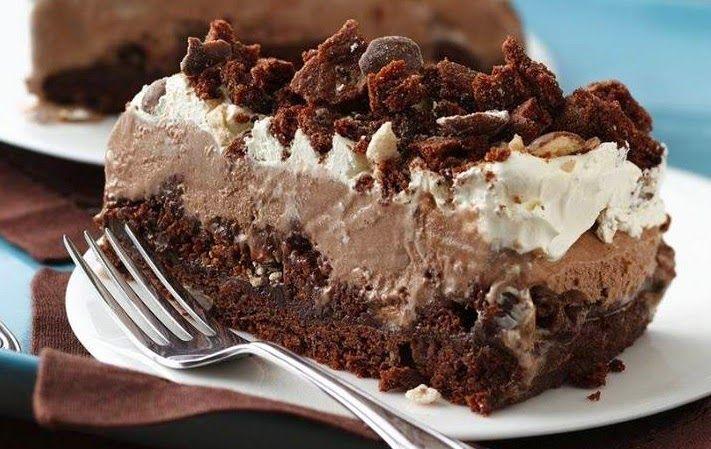 Τούρτα παγωτό σοκολάτα, με μπισκότο oreo και maltesers