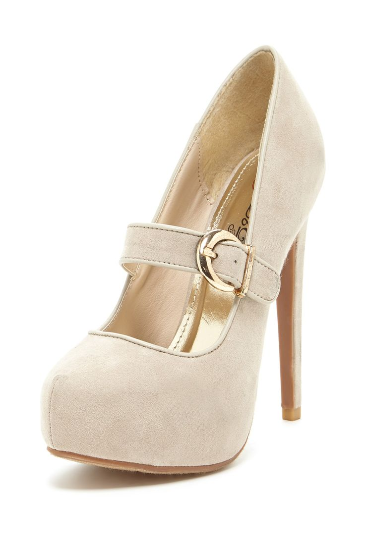Nude Mary Jane Pumps ღ