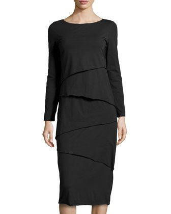 Metro Zigzag Tiered Jersey Dress, Black by Neon Buddha at Neiman Marcus Last Call.