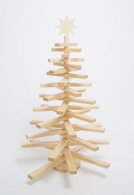 christbaum aus holz basteln