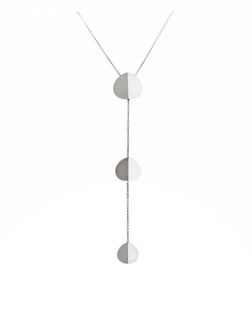 Three Stars Silver Necklace