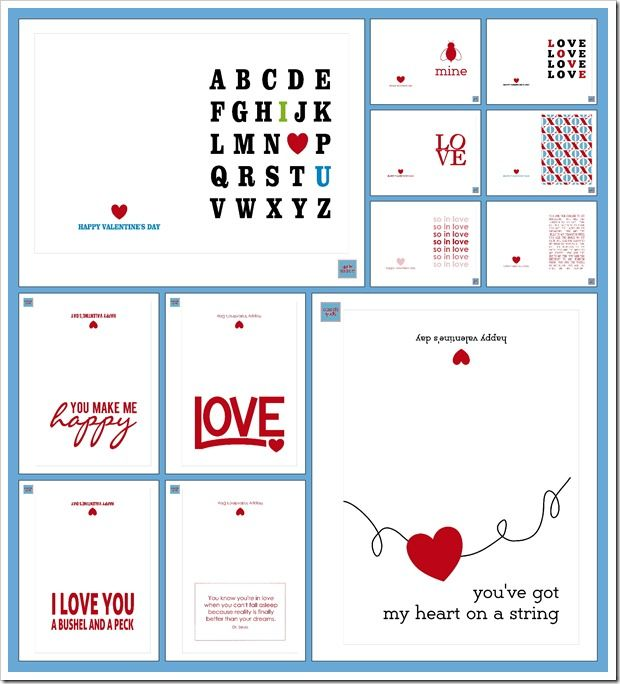 Free ~ 12 Love Themed Just Because Printables from Sprik Space