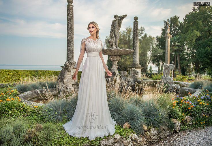 Rochie de mireasa M76.18 face partea din colectia Dreams. Fa-ti o programare la Maya Fashion rochii de mireasa Cluj acum la 0755.708.789!