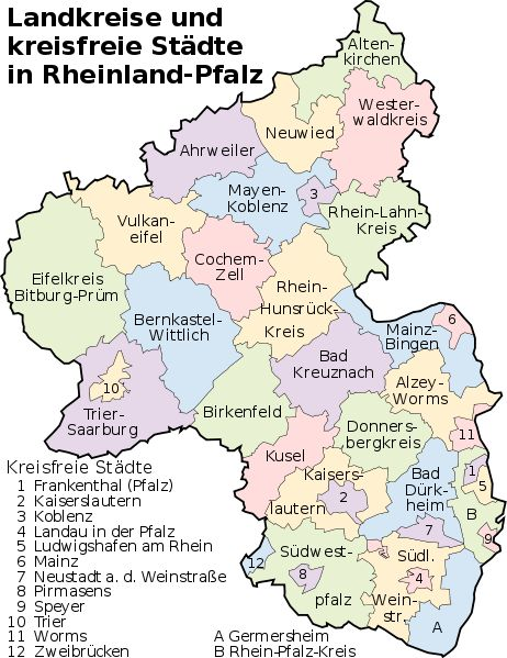 landkreise und kreisfreie stdte in rheinland pfalz counties and county level cities in rhineland