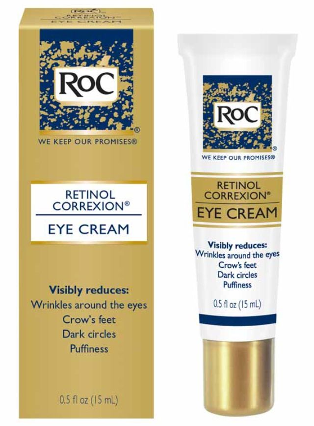 Roc Eye Cream - Specially formulated for the delicate eye area, it visibly reduces wrinkles around the eyes and crow's feet in 12 weeks. In addition, it evens out dark circles and reduces puffiness in 4 weeks.