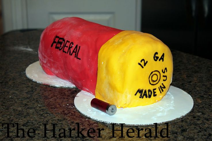 Redneck Birthday Cakes for Men | for tom s birthday cake we made a giant shotgun