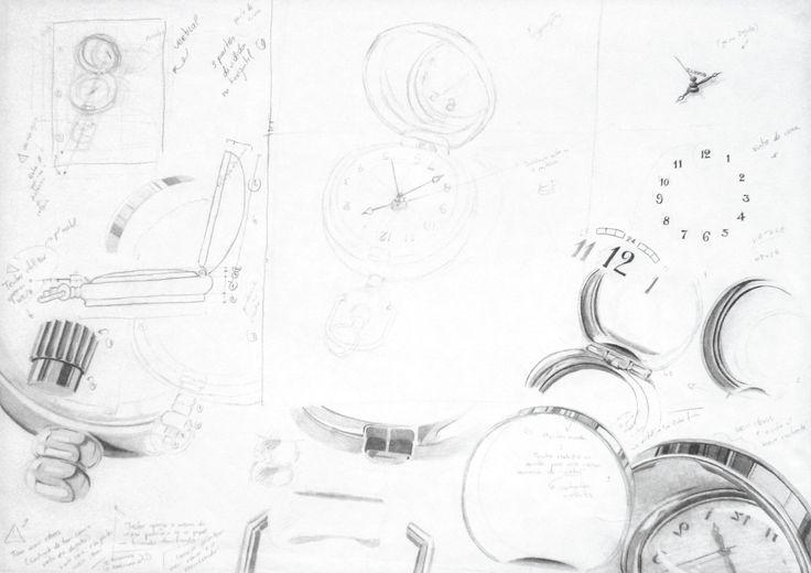 Beatriz Lopes : Estudos. Grafite s/ papel, 42 x 29,7 cm