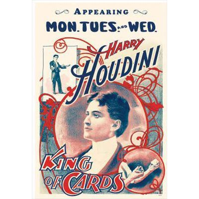 Poster - Harry Houdini - super cool posters from Coney Island