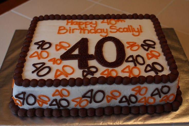 cakes for 40th birthday male | cakepict.com