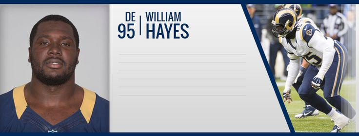 Winston Salem State alum William Hayes is a defensive end for the Los Angeles Rams He was drafted by the Tennessee Titans in the fourth round of the 2008 NFL Draft