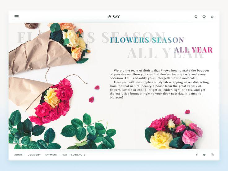 Florist E-Commerce Website by tubik
