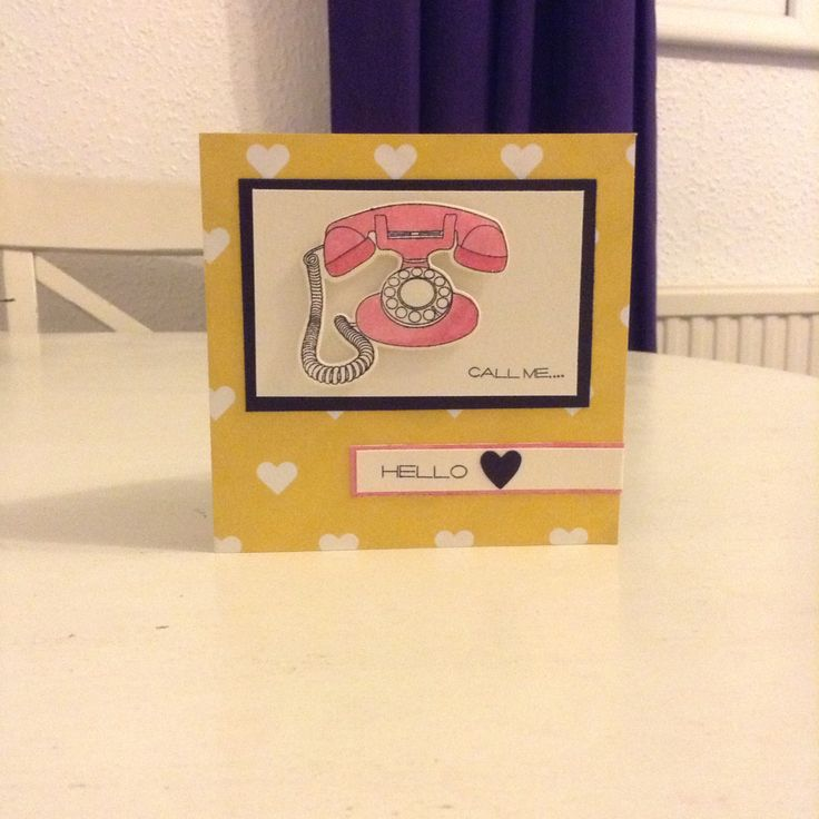 Clearly Besotted Call Me card