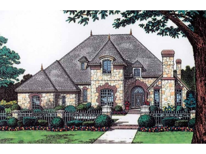 Chateau 4 bedroom 2 story house plans pinterest for Chateau house plans