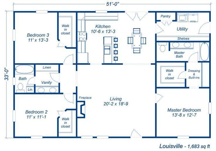 21++ 3 bedroom 2 bath metal house plans info