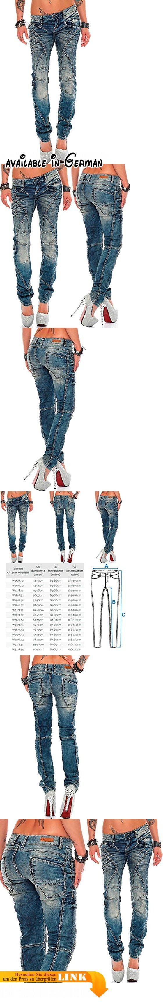 Cipo & Baxx Sexy Damen Jeans Hose Hüftjeans Skinny Regular Fit Stretch Röhre Design Dicke Naht Ziernähte W32/L32. Model 14 - bans24 - Cipo & Baxx. BITTE ACHTEN SIE UNBEDINGT AUF DIE GRÖßENTABELLE (SIEHE BILD). Regular Fit. Teilungsnahte am Bein. Der Verschluss besteht aus einem Knopf und einem Reißverschluss #Apparel #PANTS