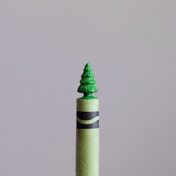 crayon sculptures