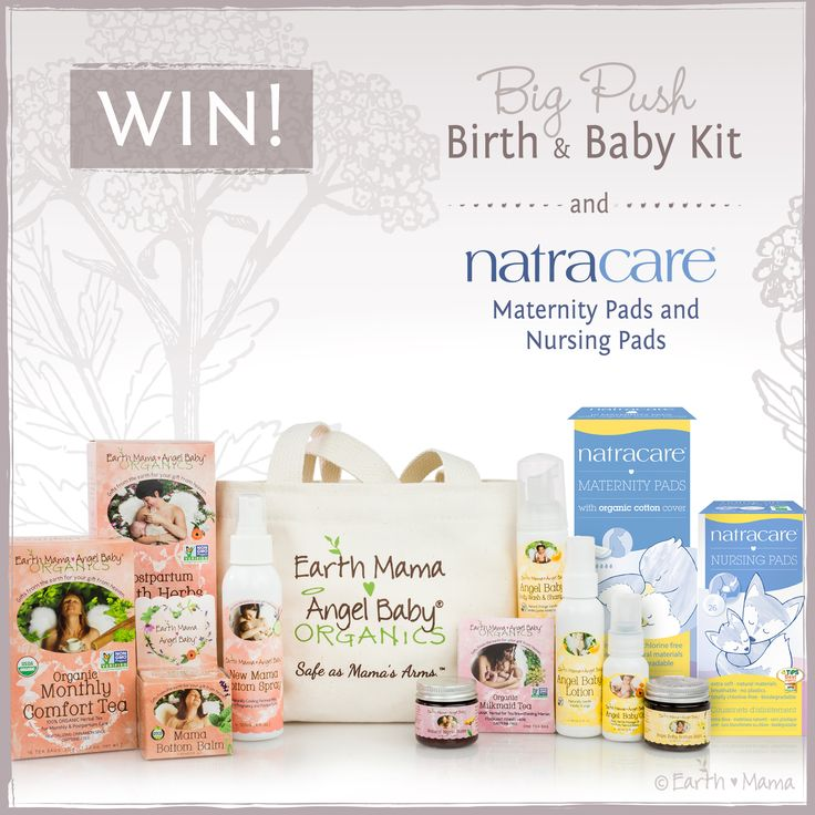 Earth Mama and Natracare are pairing up to make your postpartum recovery easier! Win two packs of Natracare Maternity Pads so you can make your own safe, chlorine bleach and toxin-free postpartum padsicles! Plus two packs of Natracare Nursing Pads, AND Earth Mama's Big Push Birth & Baby Kit, with postpartum, breastfeeding and baby products …