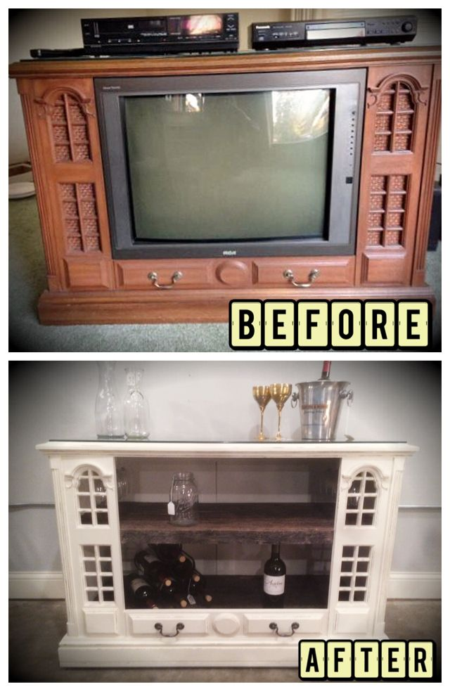 Old TV counsel Mini Bar.  Barn-wood top and shelves.  wine minibar bar barn-wood old television junk DIY up-cycled tv rustic distressed counsel tv