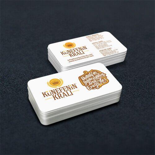 Künefenin Kralı - Kartvizit Tasarımı - Business Card Design - Restaurant