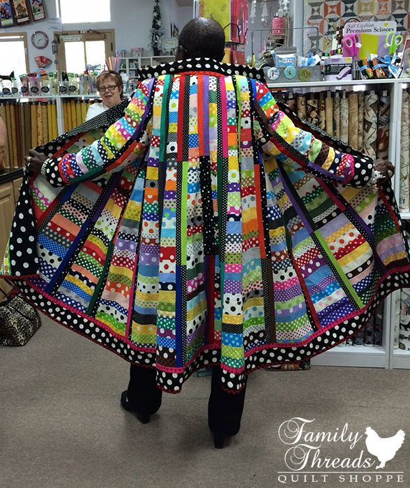 """~Rachel Clark modeling her """"It's All About the Dots"""" coat."""