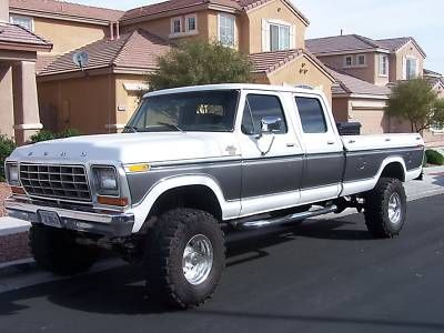 77 F350 Crew Cab 4x4 | Ford : F-350 78 f250/350 clean truck rust free | Bargain Ford : F-350 ...