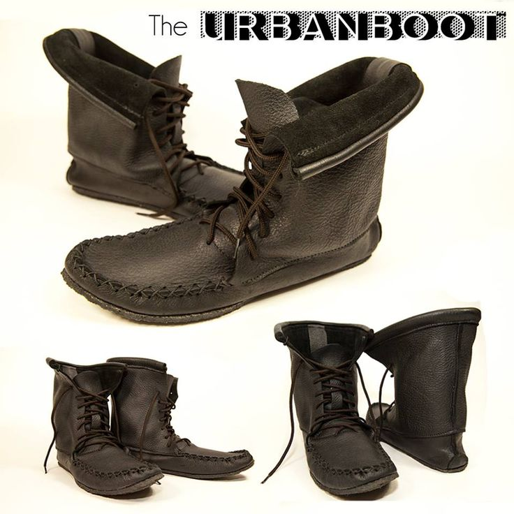The Urban Boot made from black moose hide with a crepe sole. #leather #Canada #handmade #Rockwood #Ontario #like #daily #fashion #hidesinhand