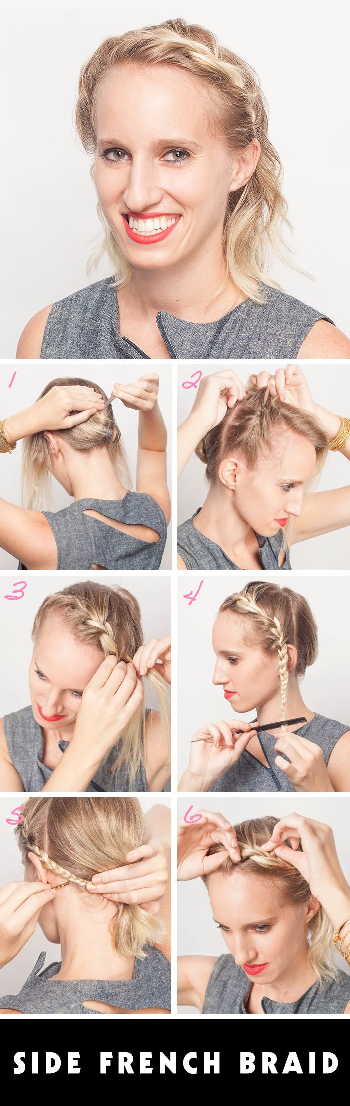 Best 25+ French Braid Short Hair Ideas On Pinterest  Short Braided  Hairstyles, Braid Short Hair And Braids For Short Hair